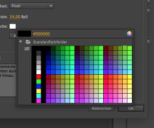 Screenshot: Farbwähler in Animate CC